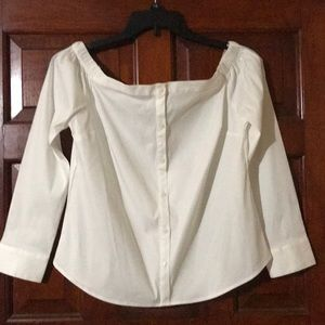Express - Off Shoulders Crop Top